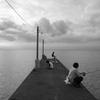 海に続く浅橋