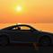 夕日と愛車