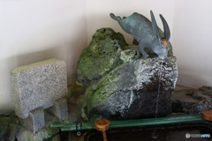 宇治神社 桐原水の手水鉢