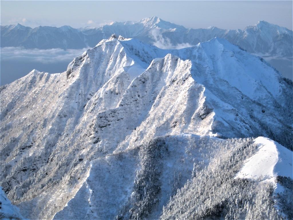 権現岳と南アルプス