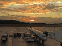 長崎空港からの夕景