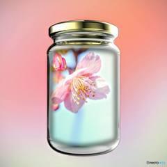 桜をハーバリウム風に・・・♪
