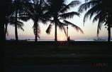 マニラ湾に沈む日