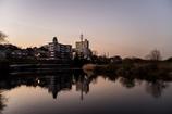 乙川の夕景