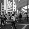 自転車が多い歩道