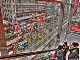 エスカレータから見る地上 香港