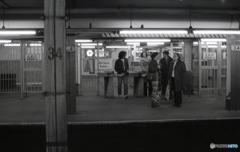 地下鉄の改札機 NY