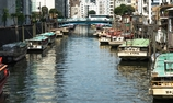 柳橋から浅草橋を眺める