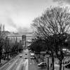 歩道橋からの夕景