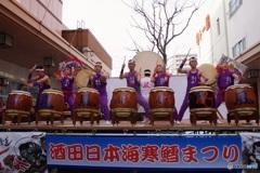 H29.1.29 太鼓道場風の会in酒田日本海寒鱈まつり2017