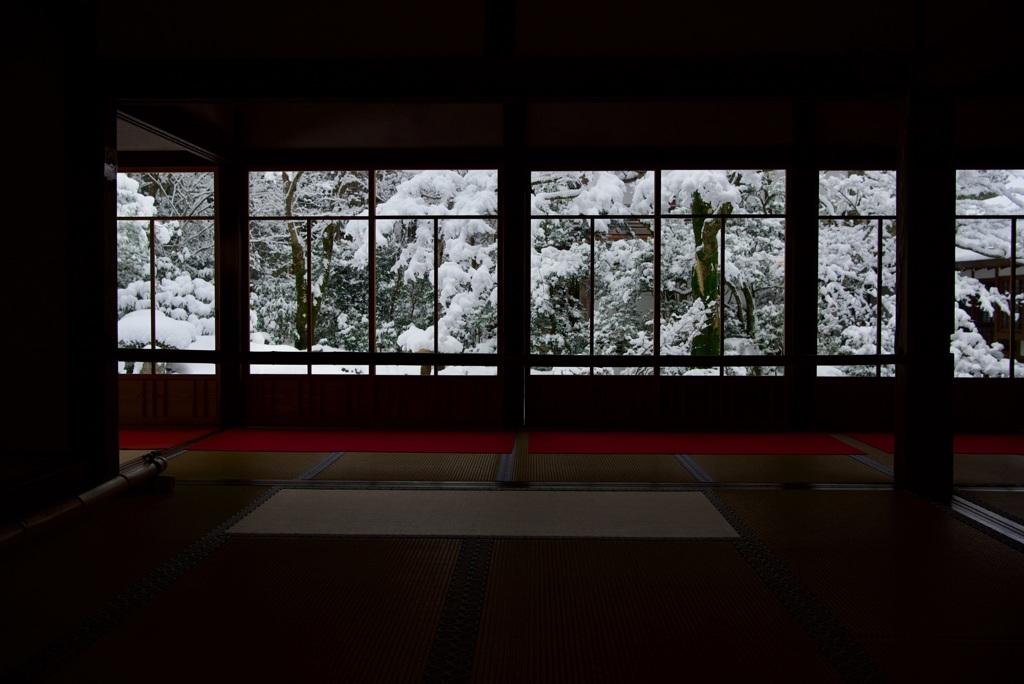 三千院 客殿・聚碧園 雪景