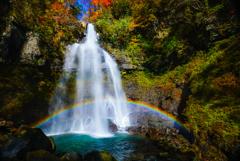 銚子ヶ滝の虹  2