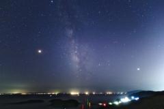 漁り火と夏の銀河
