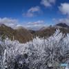 妙見岳から平成新山,普賢岳,国見岳を望む
