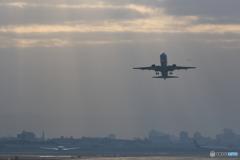 4機の飛行機