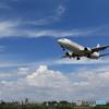 夏空と飛行機(ボーイング737-800)