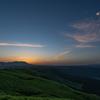 大観峰の夜明け