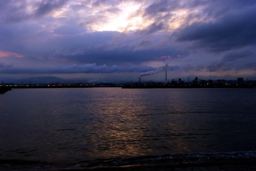 小名浜の夕暮