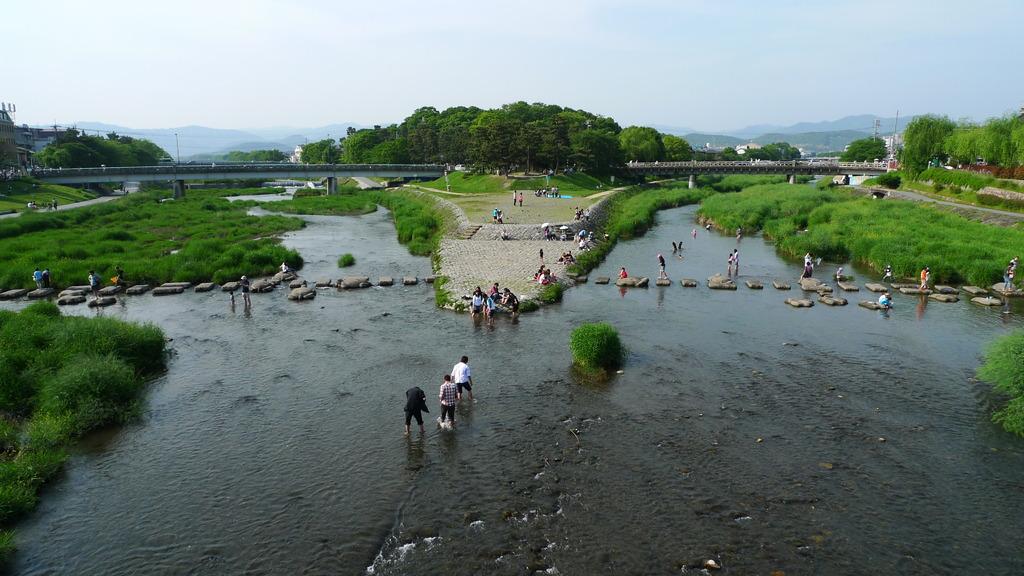 京都 鴨川 賀茂大橋より
