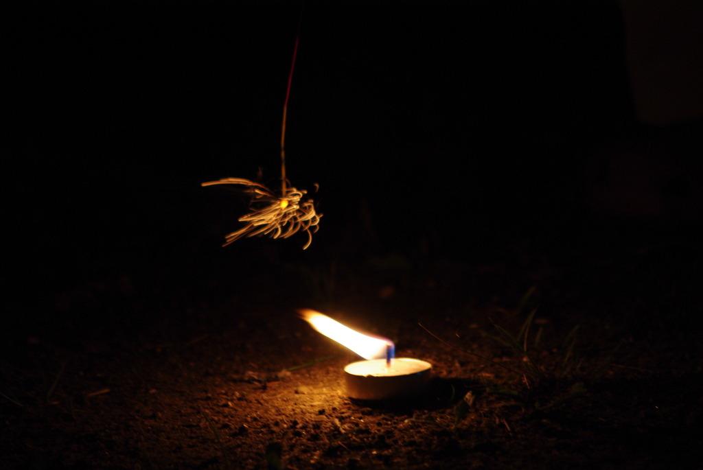 夏の終わりの花火