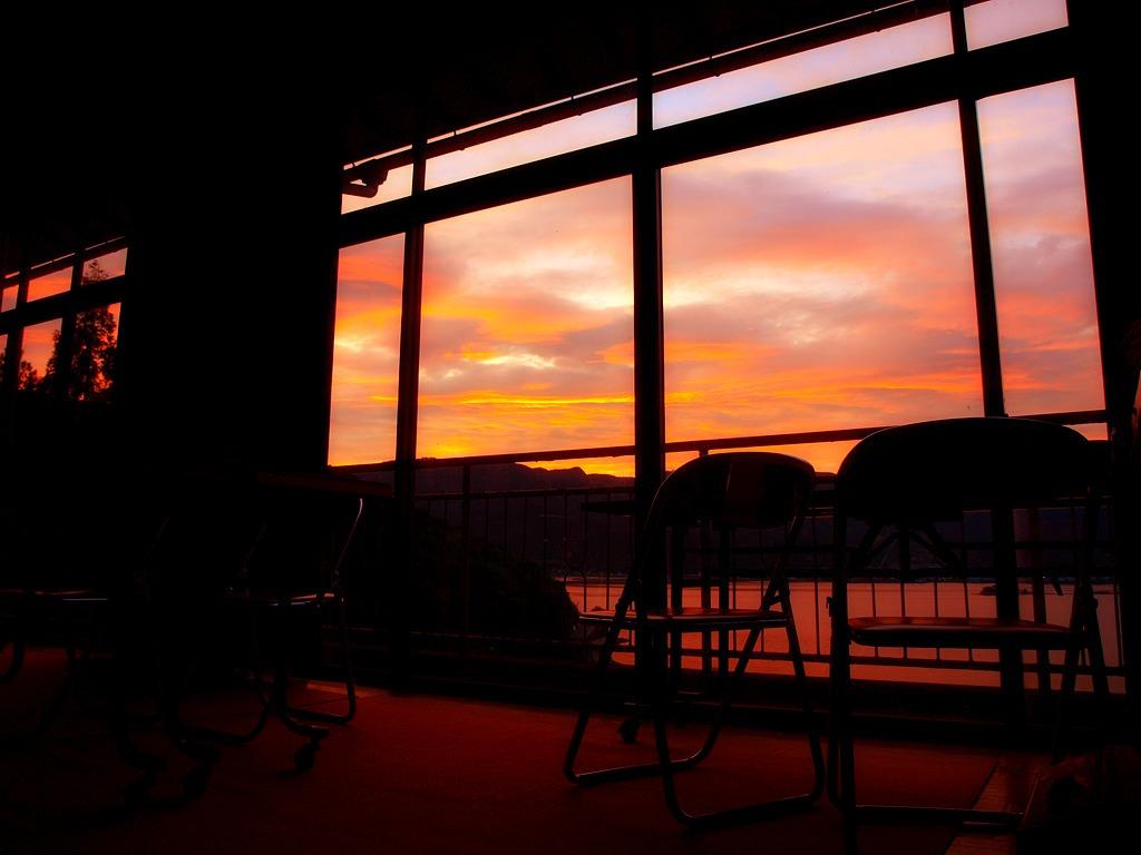 放課後の夕景