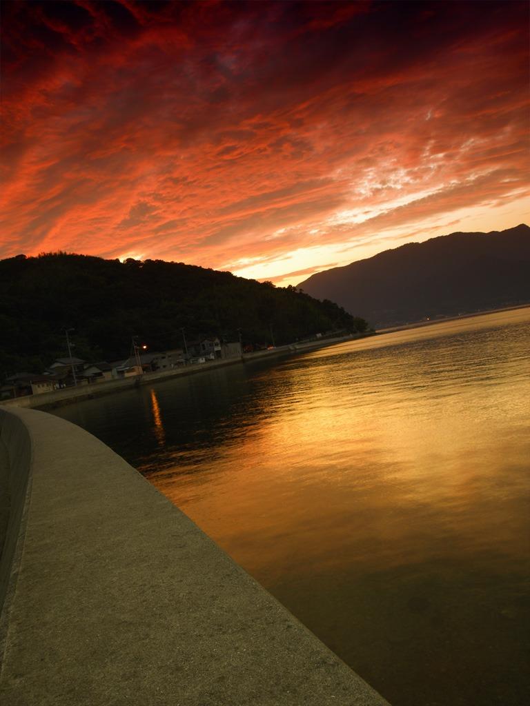 瀬戸内プライベートビーチの夕景#4