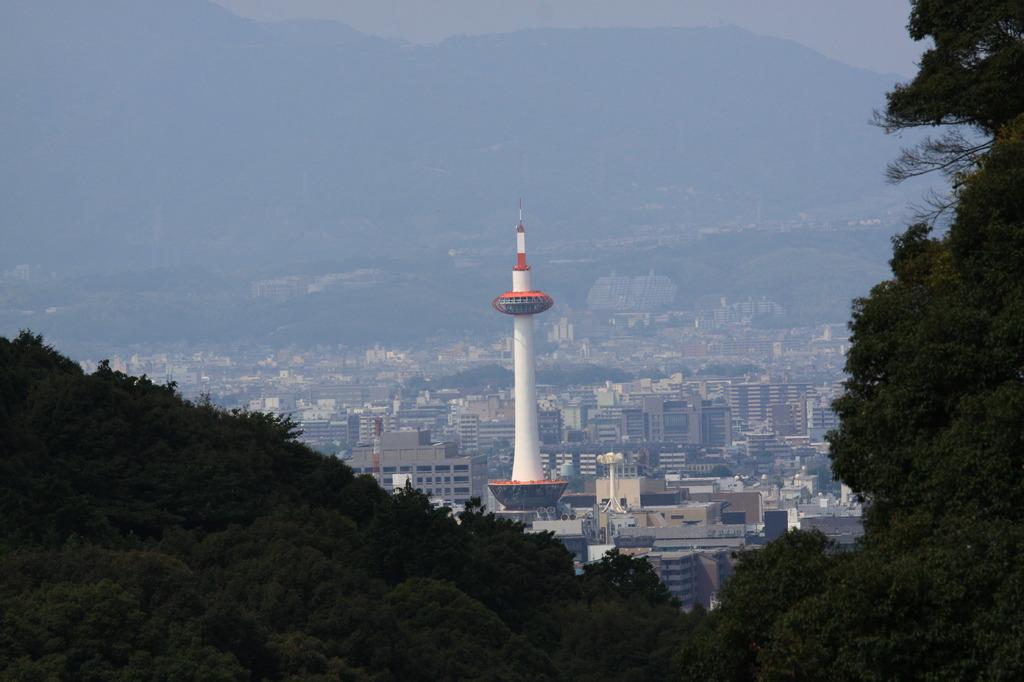 清閑寺より京都タワー
