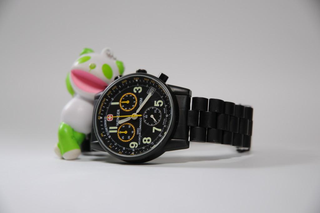 腕時計と生茶パンダ先生