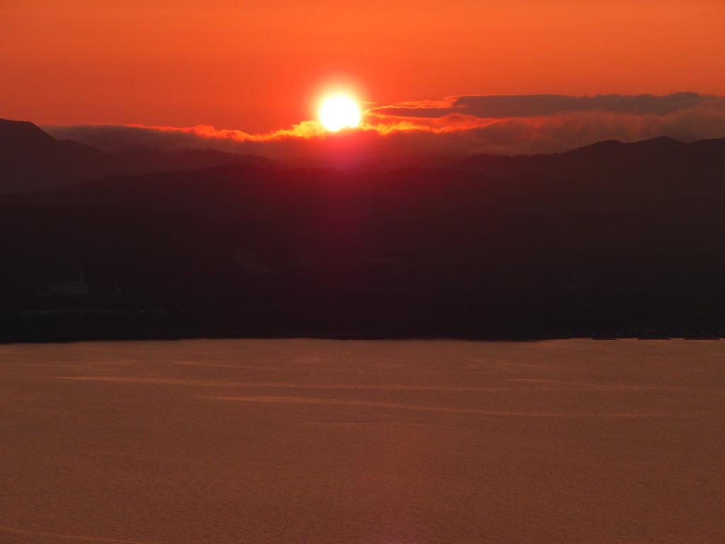 函館山の夕陽