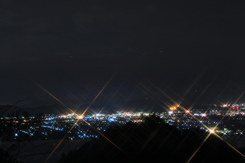 貝殻山からの夜景!