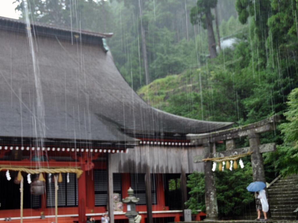 雨の英彦山