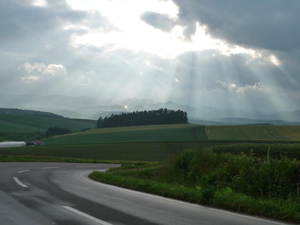 雨上がりの美瑛の丘。