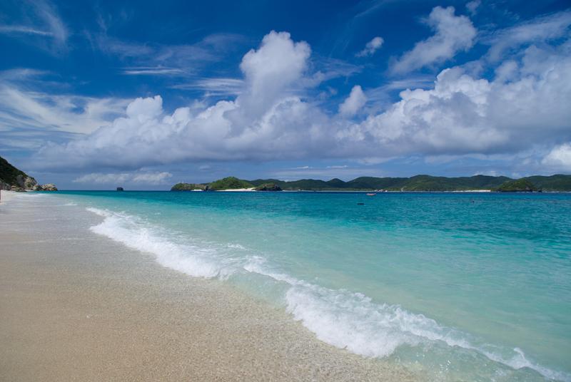 阿嘉島のビーチ
