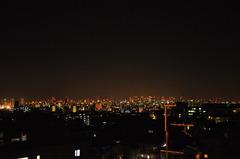 千里山から見た梅田の夜景