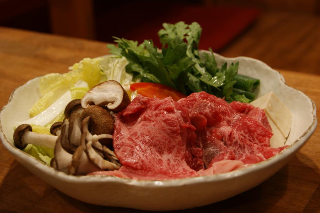 丹波牛のすき焼き