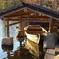 池と木造船