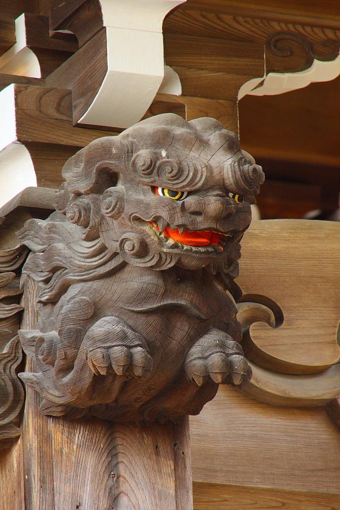 お寺の彫刻