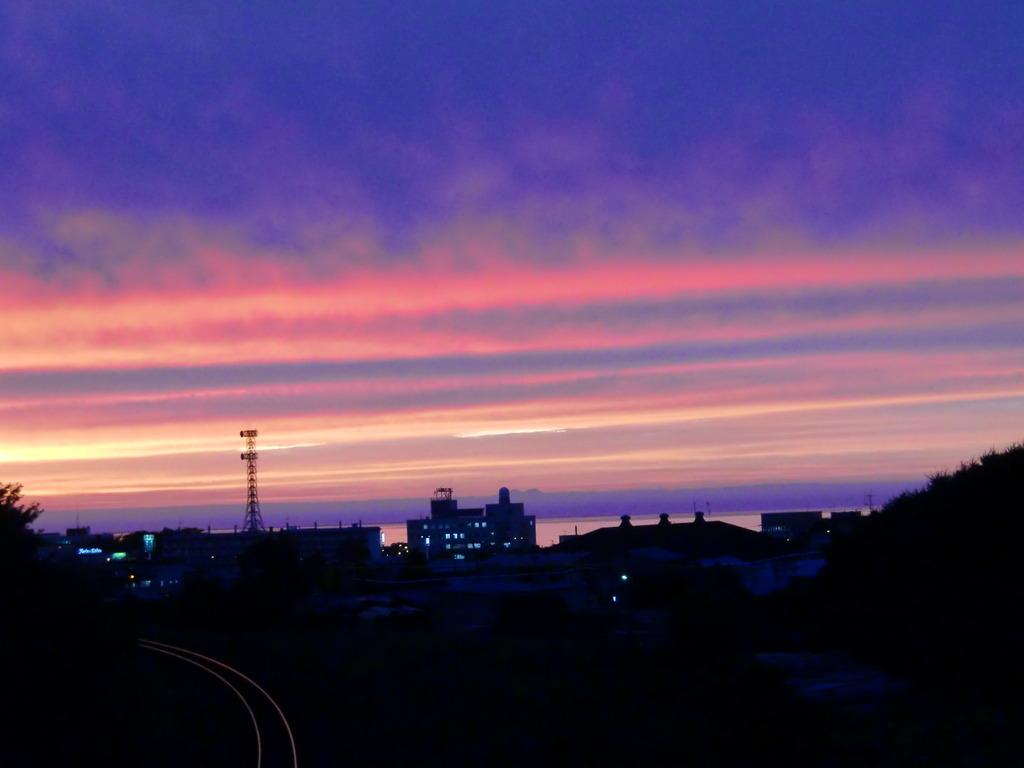 珍しい夕日