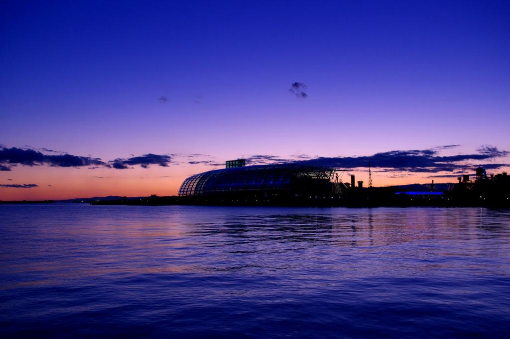 水族館の夕暮れ