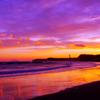 夕暮れの海岸