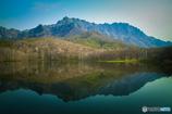 戸隠山と鏡池