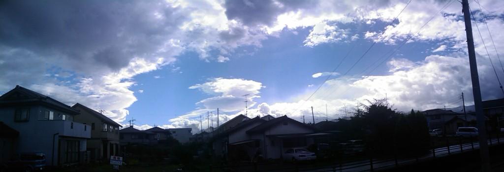 台風の目!?