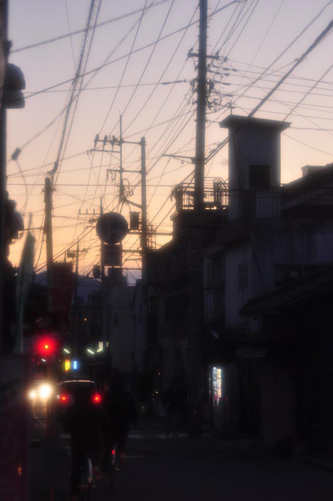 電線のある風景