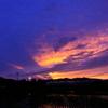 水田の夕景
