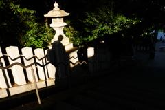 日枝神社参道で
