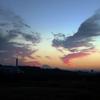 多摩川の向こうの夕景