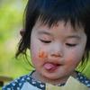 食いしん坊、顔で食う。