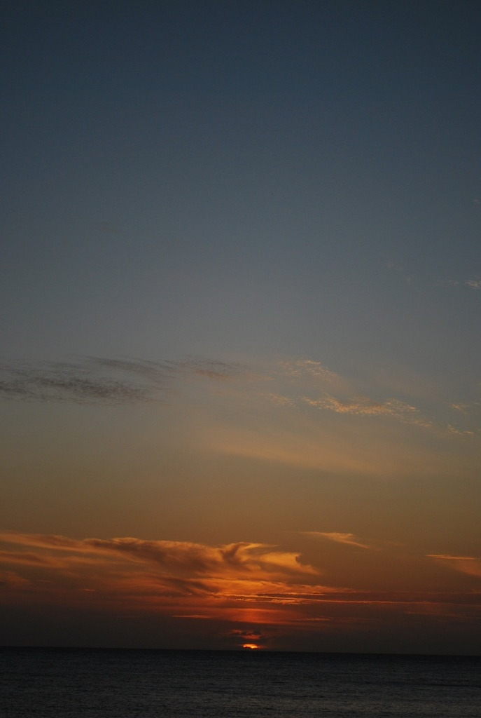 浜田漁港からの夕日
