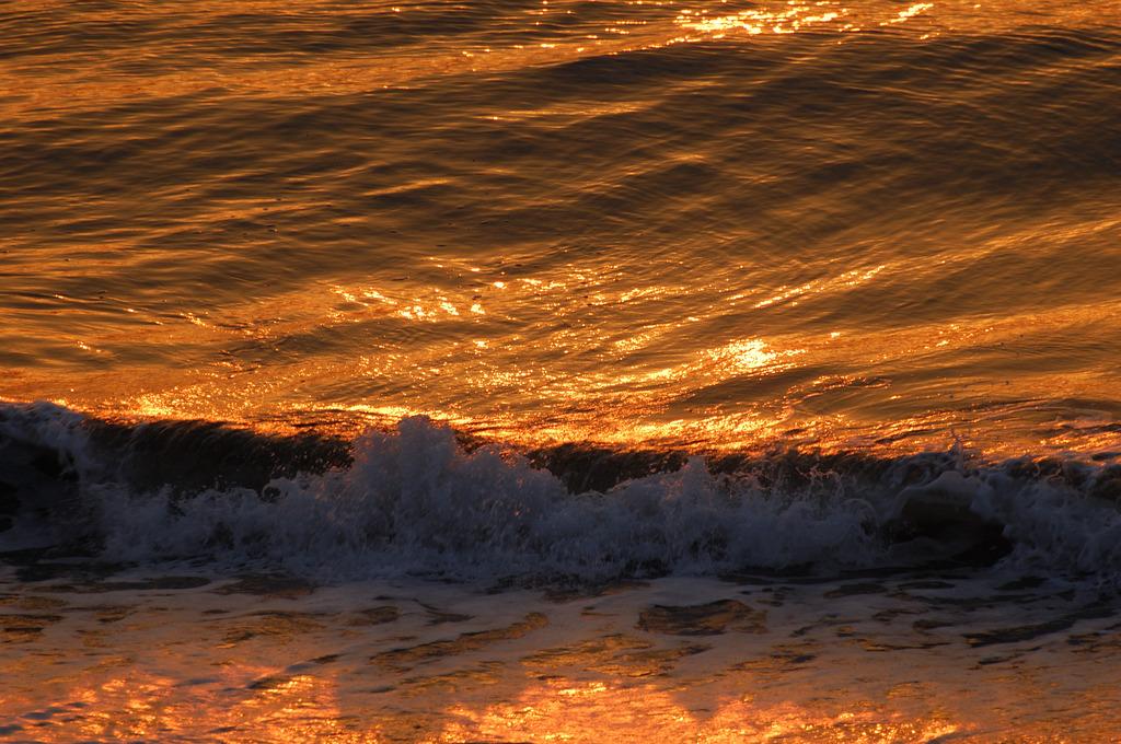 朝波の煌き