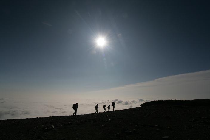 雲上を散歩